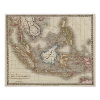 East Indian Islands Poster