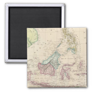 East Indies 2 Inch Square Magnet