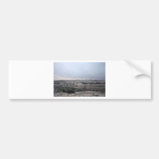 East Jerusalem from the Mount of Olives Bumper Sticker