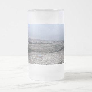 East Jerusalem From The Mount Of Olives Frosted Glass Beer Mug