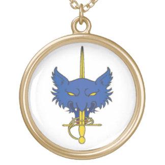 East Kingdom Order of the Golden Rapier Round Pendant Necklace