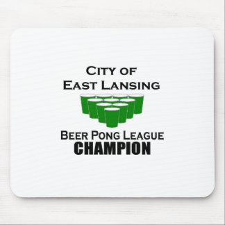 East Lansing Beer Pong Champion Mouse Pad