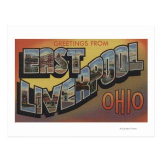 East Liverpool, Ohio - Large Letter Scenes Postcard