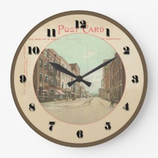 East Liverpool Ohio Post Card Clock