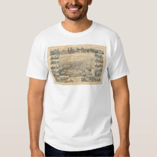 East Los Angeles, CA. Panoramic Map 1888 (0900A) T Shirt
