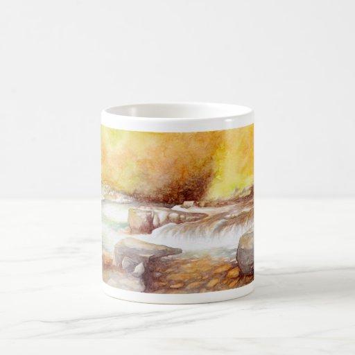 East Lyn river waterfalls Coffee Mug