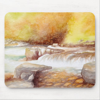 East Lyn river waterfalls Mouse Pad