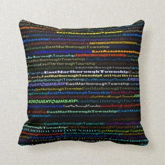 East Marlborough Township TextDesignI Throw Pillow