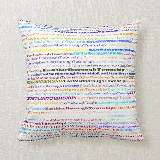 East Marlborough Township TextDsgn II Throw Pillow