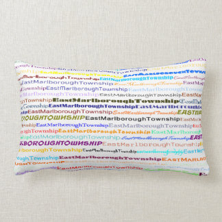 East Marlborough Township TextDsgnII Lumbar Pillow