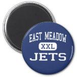 East Meadow - jets - alto - East Meadow Nueva York Imán Redondo 5 Cm