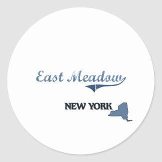 East Meadow New York City Classic Round Sticker