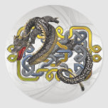 East meets Celtic Classic Round Sticker