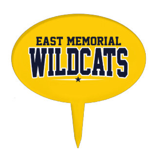 East Memorial Christian Academy Wildcats Cake Topper