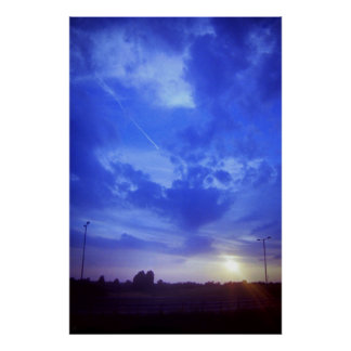 East Midlans Parkway Sunset Poster