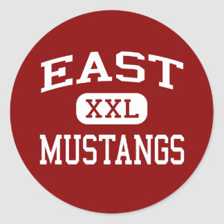 East - Mustangs - High School - Memphis Tennessee Classic Round Sticker