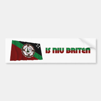 East New Britain Province Waving Flag Bumper Stickers