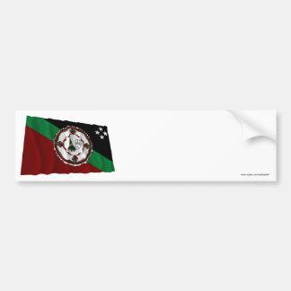 East New Britain Province Waving Flag Bumper Sticker