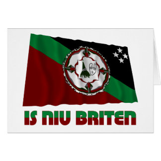 East New Britain Province Waving Flag Card
