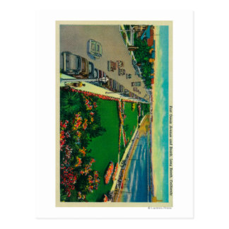 East Ocean Avenue and BeachLong Beach, CA Postcard