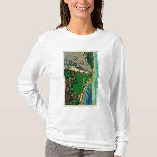 East Ocean Avenue and BeachLong Beach, CA T-Shirt