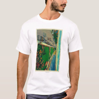 East Ocean Avenue and BeachLong Beach, CA T-Shirt