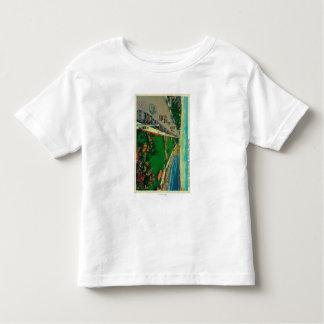 East Ocean Avenue and BeachLong Beach, CA Toddler T-shirt