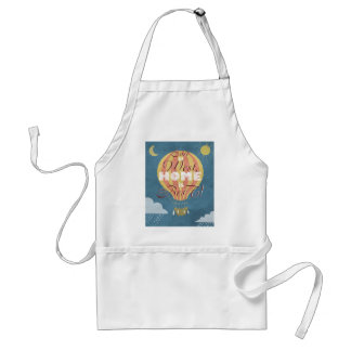 East or West home is best - ballon in the sky Adult Apron