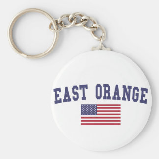 East Orange US Flag Keychain