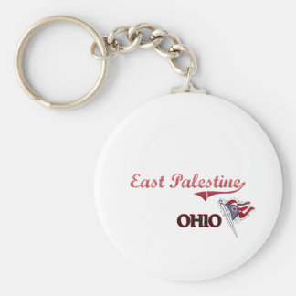 East Palestine Ohio City Classic Basic Round Button Keychain