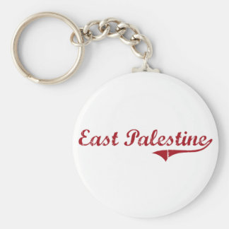 East Palestine Ohio Classic Design Basic Round Button Keychain