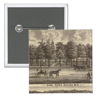 East Park, Racine and Oakland Farm 2 Inch Square Button
