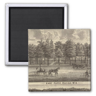 East Park, Racine and Oakland Farm 2 Inch Square Magnet