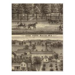 East Park, Racine and Oakland Farm Postcard