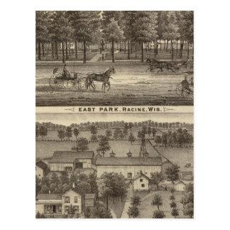 East Park, Racine and Oakland Farm Postcards