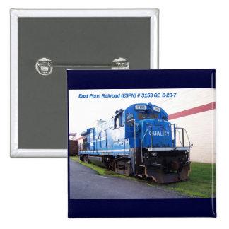 East Penn Railroad Locomotive #3153 Button