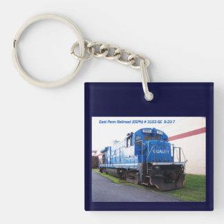 East Penn Railroad Locomotive #3153 Keychain Square Acrylic Keychain
