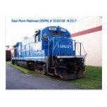 East Penn Railroad Locomotive #3153 Post Card