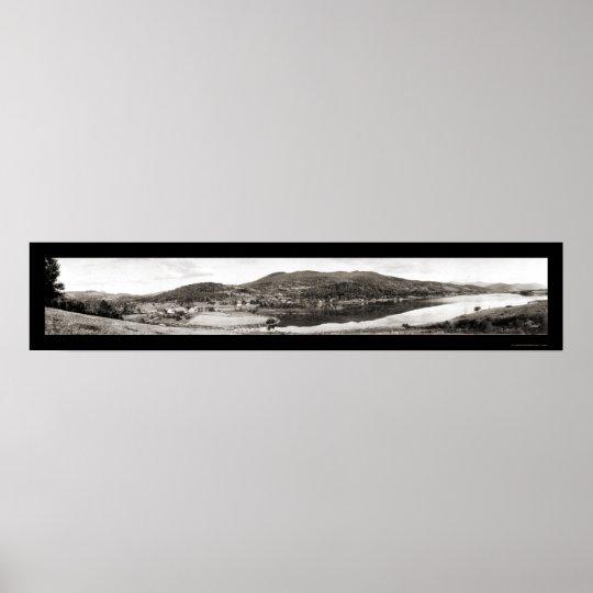 East Pittsford VT Dam Photo 1913 Poster