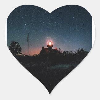 East Point Light - New Jersey. Heart Sticker