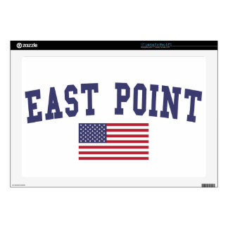 East Point US Flag Laptop Decal