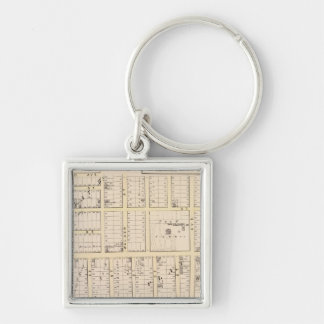 East Providence Rhode Island Map Silver-Colored Square Keychain