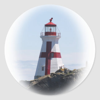East Quoddy Lighthouse Classic Round Sticker