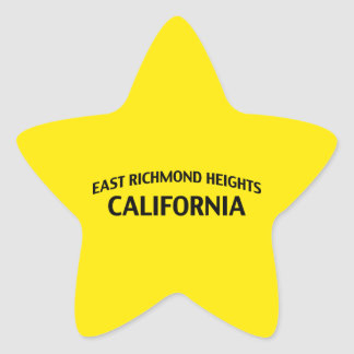 East Richmond Heights California Star Sticker