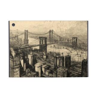 East River Bridges New York City Vintage iPad Mini Covers