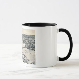 East River Bridges, New York City Vintage Mug