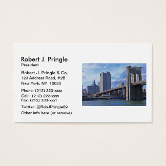 East River: Brooklyn Bridge & Municipal Building Business Card