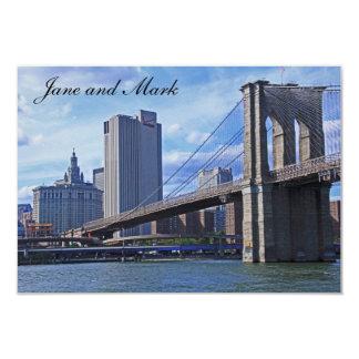 East River: Brooklyn Bridge & Municipal Building Card