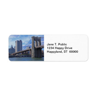 East River: Brooklyn Bridge & Municipal Building Label