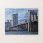 East River: Brooklyn Bridge & Municipal Building Jigsaw Puzzles
